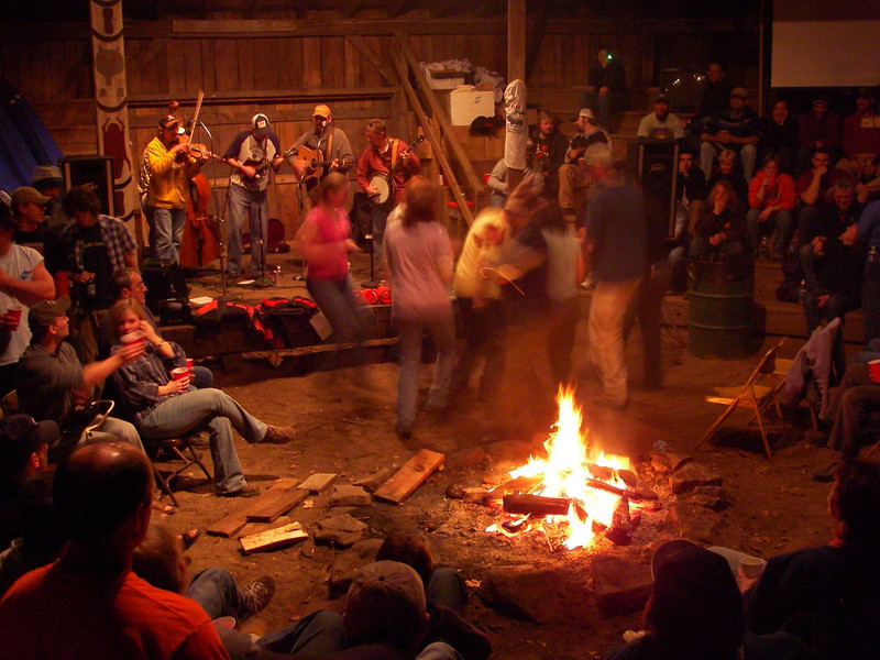 Indoor Campfire at the Elk River Festival. Camp Caesar, WV