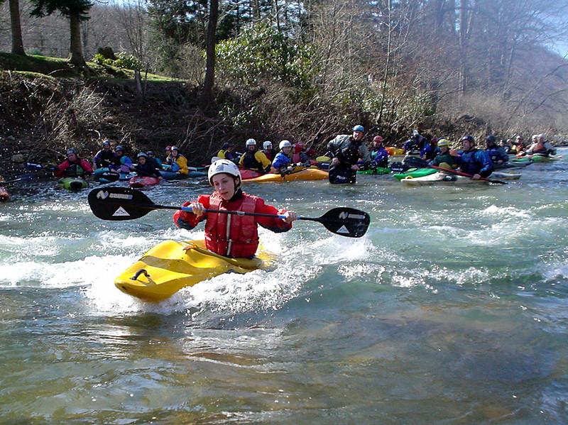 Beginners' training trip on Loyalhanna Creek, near Latrobe, PA