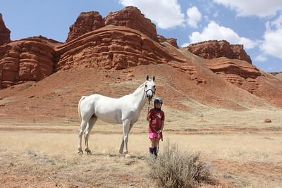 10-year-old Cassidy Miller and her horse take on the Big Horn 100 endurance ride, Wyoming (her third one!)