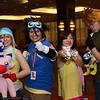 Sora Takenouchi, Tai Kamiya, Kari Kamiya, Matt Ishida, Biyomon, Gatomon, and Gabumon