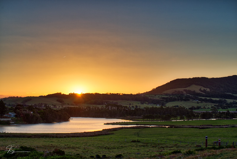 Spring Sunset over Werri Lagoon