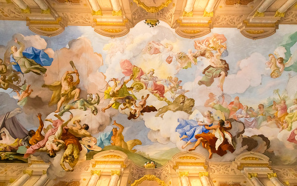 Ceiling in Melk Abbey