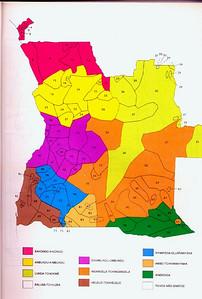 Mapa de Grupos Etnicos de Angola