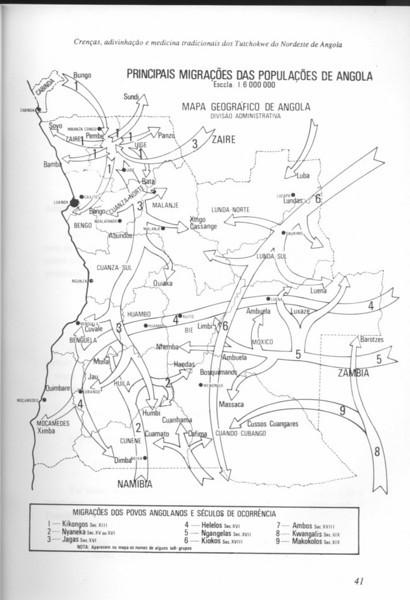 Principais migrações das Populacoes de Angola