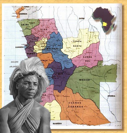Mapa de Angola - quioco