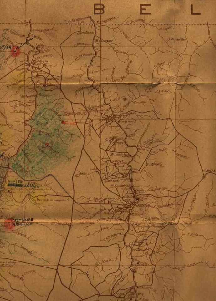 Lunda - mapa parcial