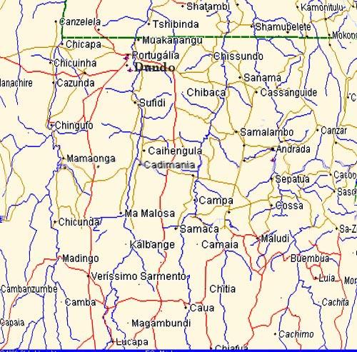 Lunda - Mapa