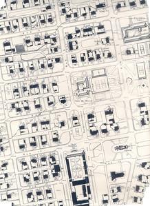 Ruas 6, 8, 10, 12, 14, 16, escritorios, Casa do Pessoal, Capela, Hospital