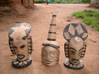 Estatuetas de máscaras Txihongo, Txicunza e Muinguenda