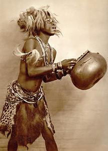 Bailarino baluba, Angola, 1940,