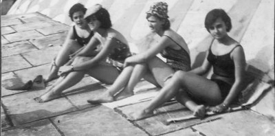 Piscina Andrada Micá Marvanejo, Teresa Fontinhas, Elza Manuel Augusto e Lita Marvanejo