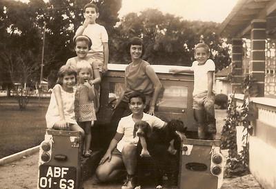 Cassanguidi  Liliana, Natália, filha do Pinto Freitas, Carlos, Fernando e Maria João Piedade, e o Fernando Ribeiro