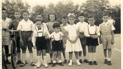 Dundo 1956 Toni Dinis, José Boucinha, Adão Barata, Zé Pina Nucha Barata, Carmencita, Ricardo e Luis Aragão e Brito, Bilocas, e Caíca Teixeira de Sousa