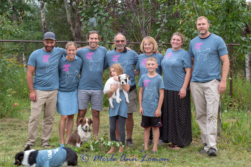 The Roy Loman Clan with kids and dogs