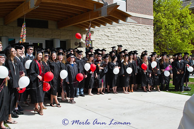 I almost got all of the graduates in this photo. The crowd kept pushing me forward and I couldn't get the photo I wanted....not bad, though.