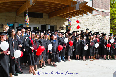 Group photo - Jessa is under the two vertically lined up balloons in the right-of-center back.