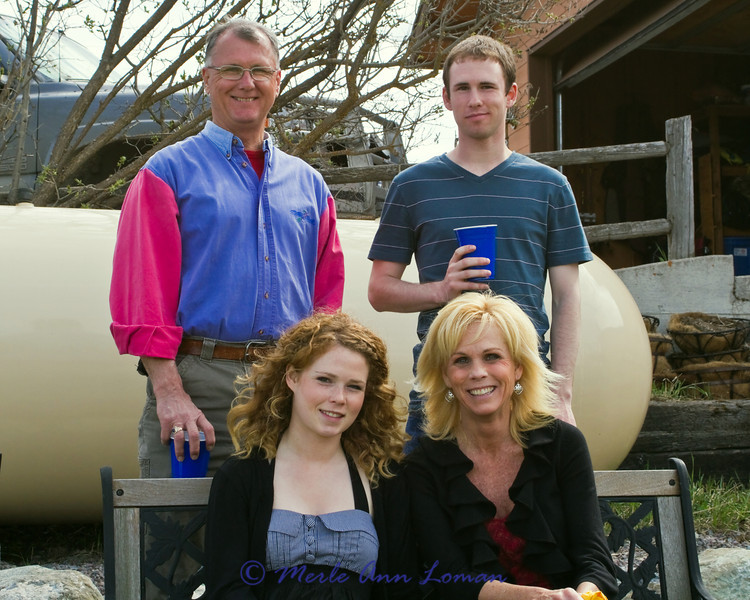 Ron, graduate Chris, Chantal, and Gayle Gustine.