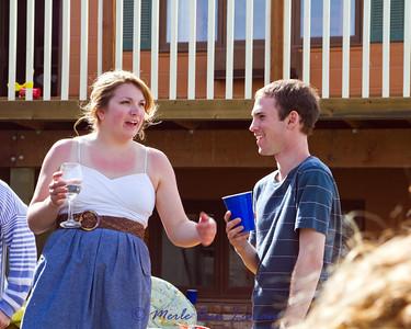 The two graduates, Sarah and Chris.