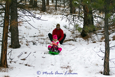Sledding with Gracie