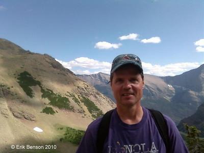 Hobie Hare. Photo taken by Erik Benson on the Piegan Pass-Sunrift Gorge Loop Trail not far from Sexton Glacier. Montana.