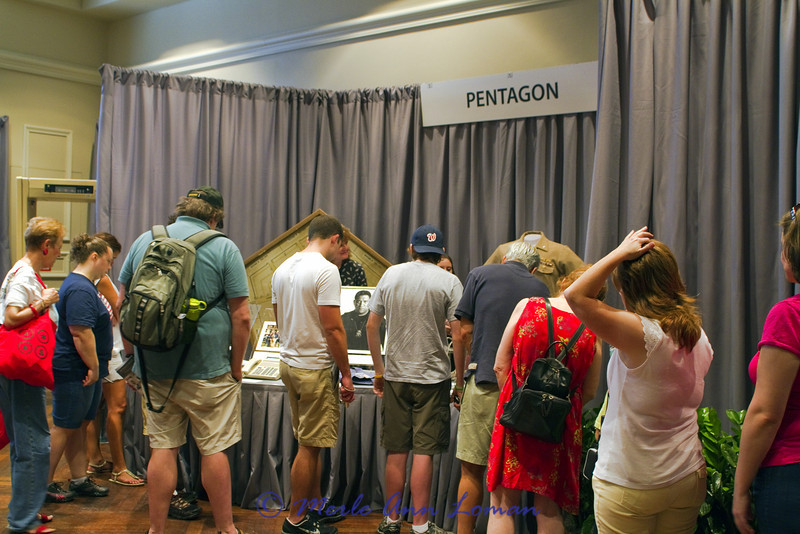The Pentagon table at the exhibit