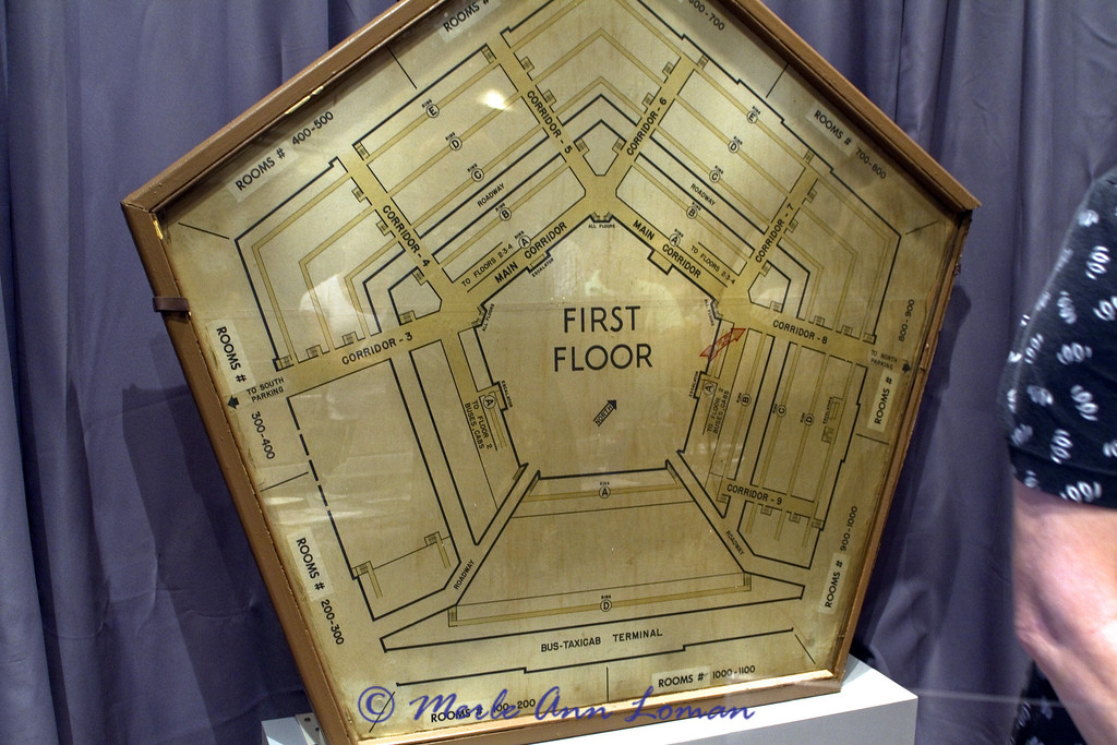 Pentagon - This Pentagon corridor map hung on the first floor of the innermost A ring, opposite the crash site.