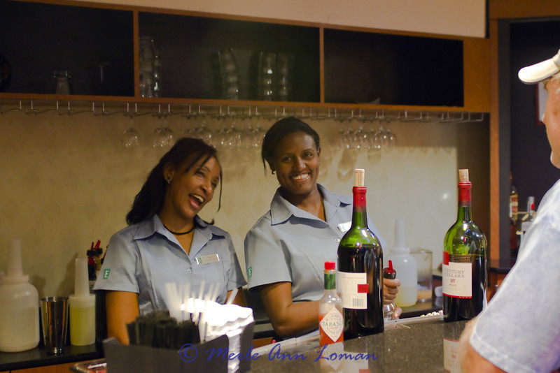 Leah and Almaz providing great service at happy hour. They were both so much fun, so nice...they helped us get through the long hours of work. Seeing them at the end of the day was a joy.