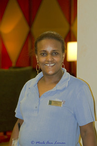 Atsed also keeps the public areas in Embassy Suites fresh and clean. Her warm, joyful smile is always there as she asks if we need anything. Visiting with her took our minds off the day-to-day problem solving that we went through. She taught us about her home country and about what it takes to come to the US from Ethiopia and make a life. Courage and hard work seem to be her best tools. It was so exciting to see her again when we returned in 2011.
