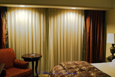 My bedroom in Embassy Suites. There is also a living/sitting room in the front.
