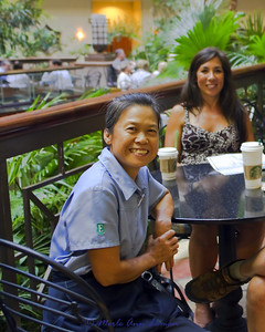 Xiao Yu Zeng - she is one of the people that keeps the main breakfast area sparkling clean and fresh. And, with the wonderful smile. She has worked so hard to put her son through college and he is now working on an upper graduate degree. She is very proud, and should be. Her delightful personality lights up Embassy Suites.