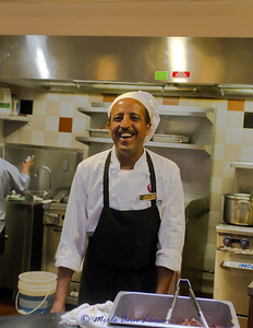 Haile -every morning Haile was at the omelet bar at breakfast. He could take orders for hours and still remember what everyone liked. Again, smiling, joking, laughing. He started our day with laughter and great food. He served us with that same smile in 2011.