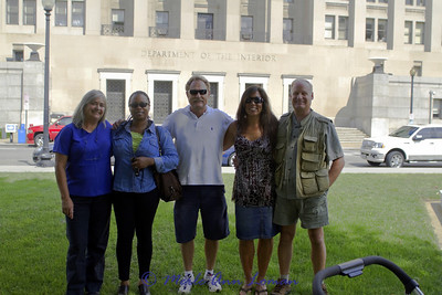 On the lawn on C Street NW in front of the Department of the Interior building. The DOI builiding is in the background. This is where we spent months and years (before and after) 9/11.