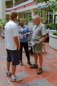 Guests visiting in the breakfast area of Embassy Suites, 1250 22nd St NW, Washington D.C.