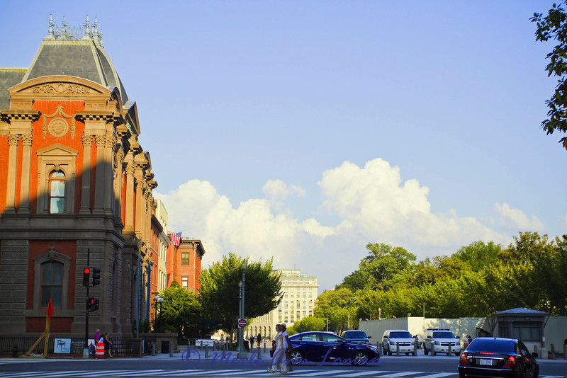 Renwick Gallery, 1661 Pennsylvania Avenue Northwest, Washington D.C - the White House is across the street to the right behind the trees.