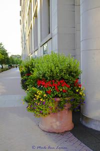 K Street NW, Washington DC near the White House and National Mall