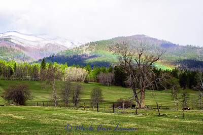 Rainbow traveling across the Bitterroot Mountains near Bear Creek April 28