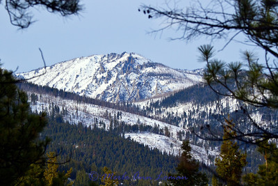 The Bitterroot Mountains near Totem Peak. Taken from the trailhead at Fred Burr.