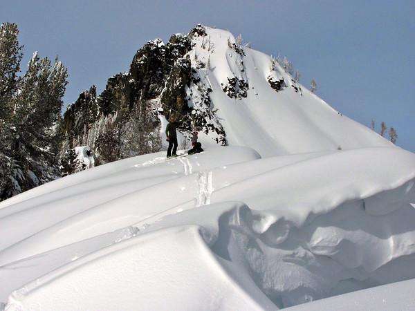 2013 Feb skiing Gash Peak in Montana