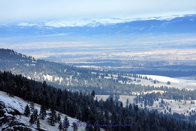 From Sweathouse ridge in the Bitterroots looking northeast at the Sapphire Mountains, January 25, 2010