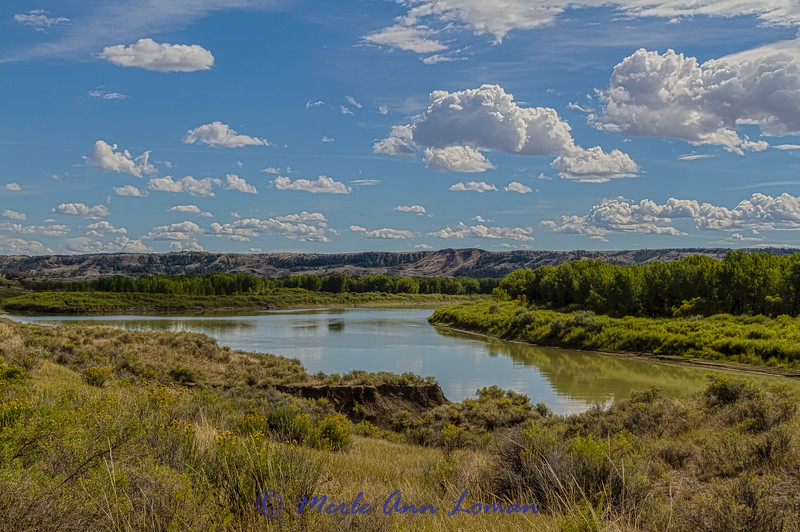 """Missouri River and breaks near Slippery Ann Wildlife Viewing Area IMG_9642 ¯\_(ツ)_/¯ Please share and like the A Montana View Facebook page! Thanks so much for viewing. 