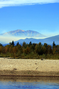 This one was taken from the north of the fire on Sept 13. We were floating the Bitterroot River.