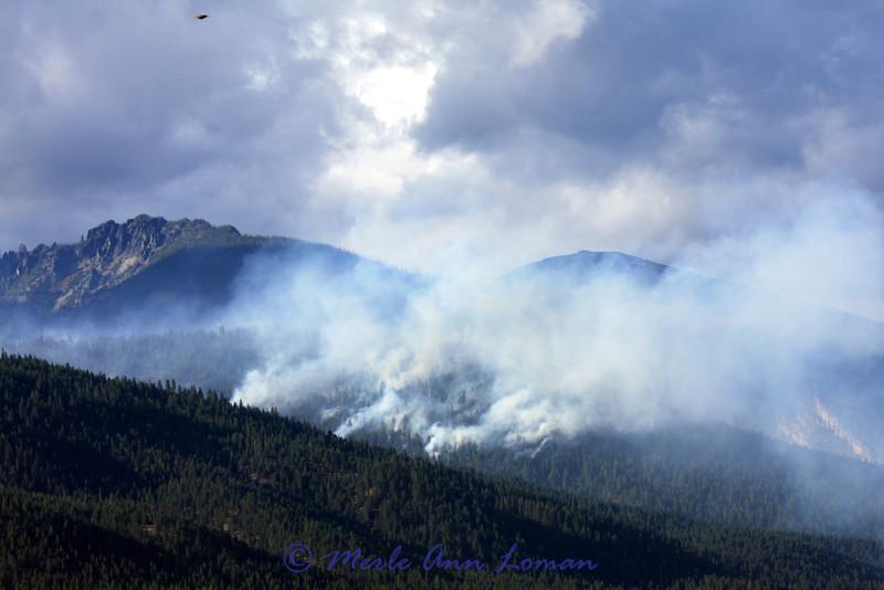 Kootenai Fire west of Stevensville, Montana (in the Kootenai drainage of the Bitterroot Mountains).