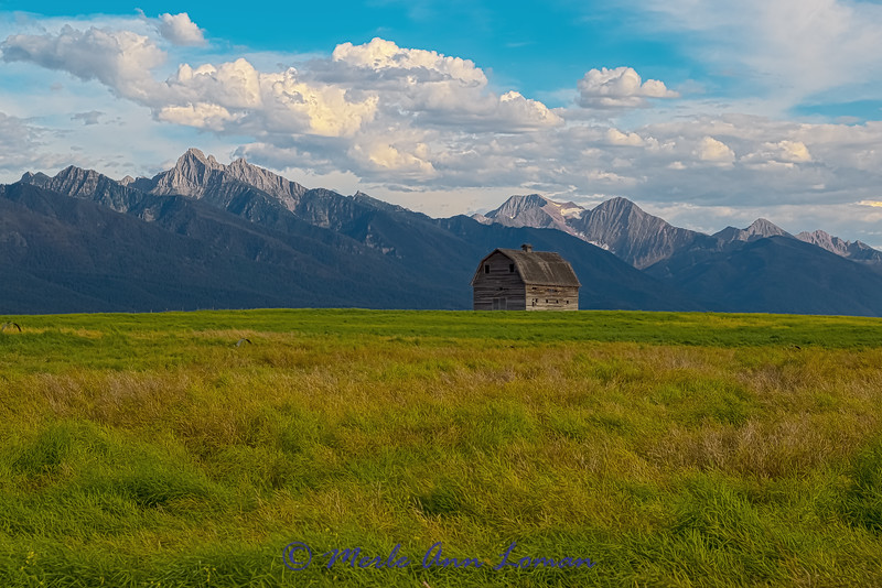 """Old barn in the Mission Valley - IMG_5687 \_(ツ)_/¯ Please share and like the A Montana View Facebook page! Thanks so much for viewing. 