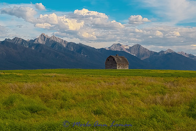 Old barn in the Mission Valley - IMG_5687 \_(ツ)_/¯ Please share and like the A Montana View Facebook page! Thanks so much for viewing. | visit www.amontanaview.com | #Photography #Montana #MontanaMoment #MissionMountains - Buy this photo at this link http://smu.gs/1Q9I02Q