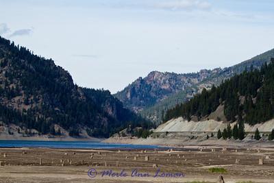 Painted Rocks Reservoir near Darby, Montana