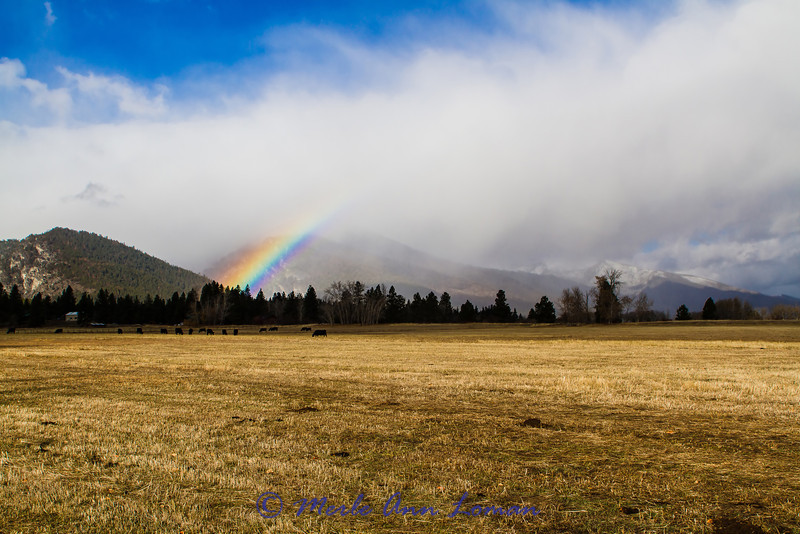 Rainbow over Downing Mountain IMG_1462