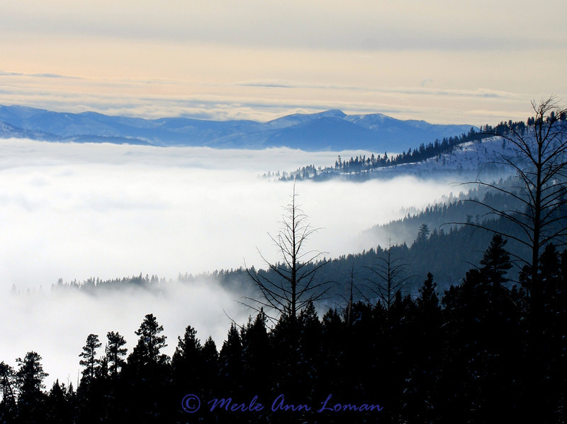 Above the inversion in the valley