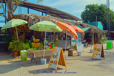 Juice stand in Sayulita Mexico fairly early in the morning. Image 1960