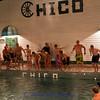 Having fun at the pool