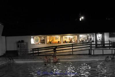 The poolside restaurant
